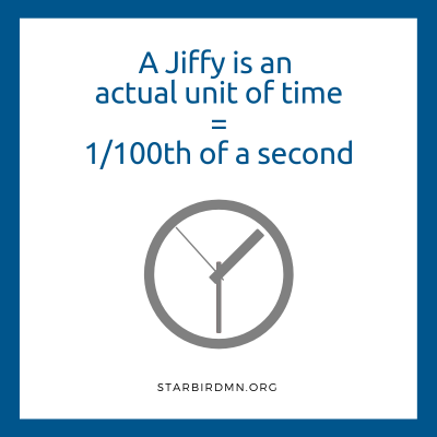 jiffy is a real unit of time